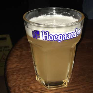 Hoegaarden on the tap